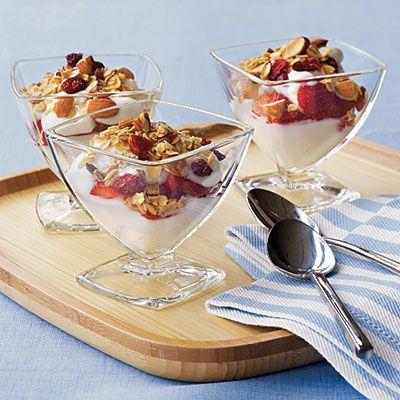 Yogurt Sundaes - Family Breakfast Recipes - Cooking Light
