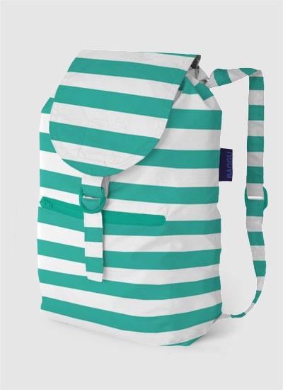 striped baggu ripstop nylon backpack