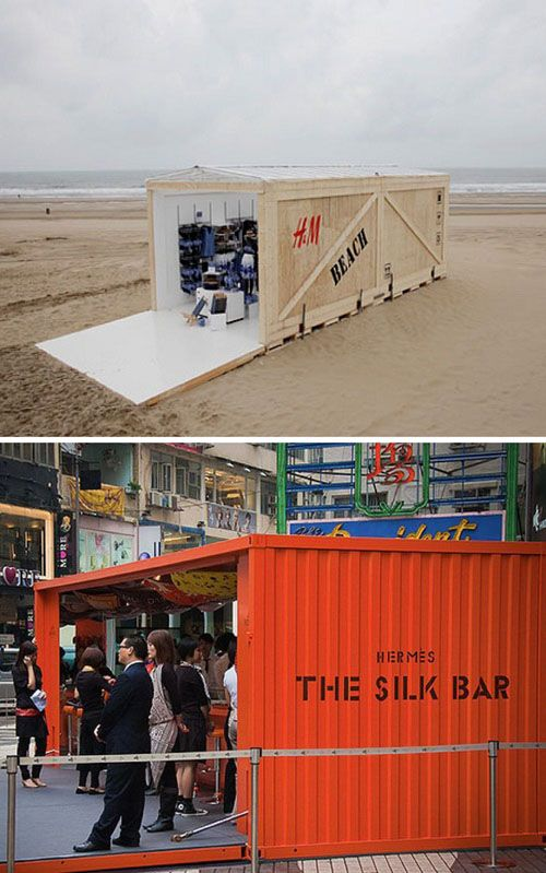 All about Pop-Up Shops on Rena Tom's blog. Images via Inhabitat and Business Insider