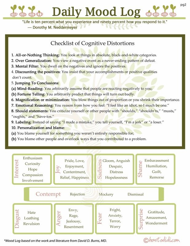 pg 2 for the CBT printable. | Social Work- Worksheets ...