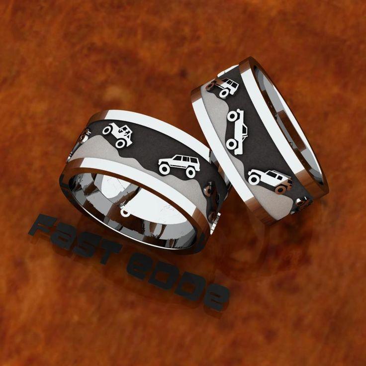 #jeep #wedding #rings