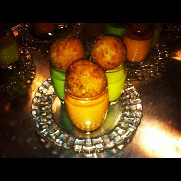 Arancini Trio! -Red Tomato Gazpacho w/ Roasted Garlic and Mozzarella ...