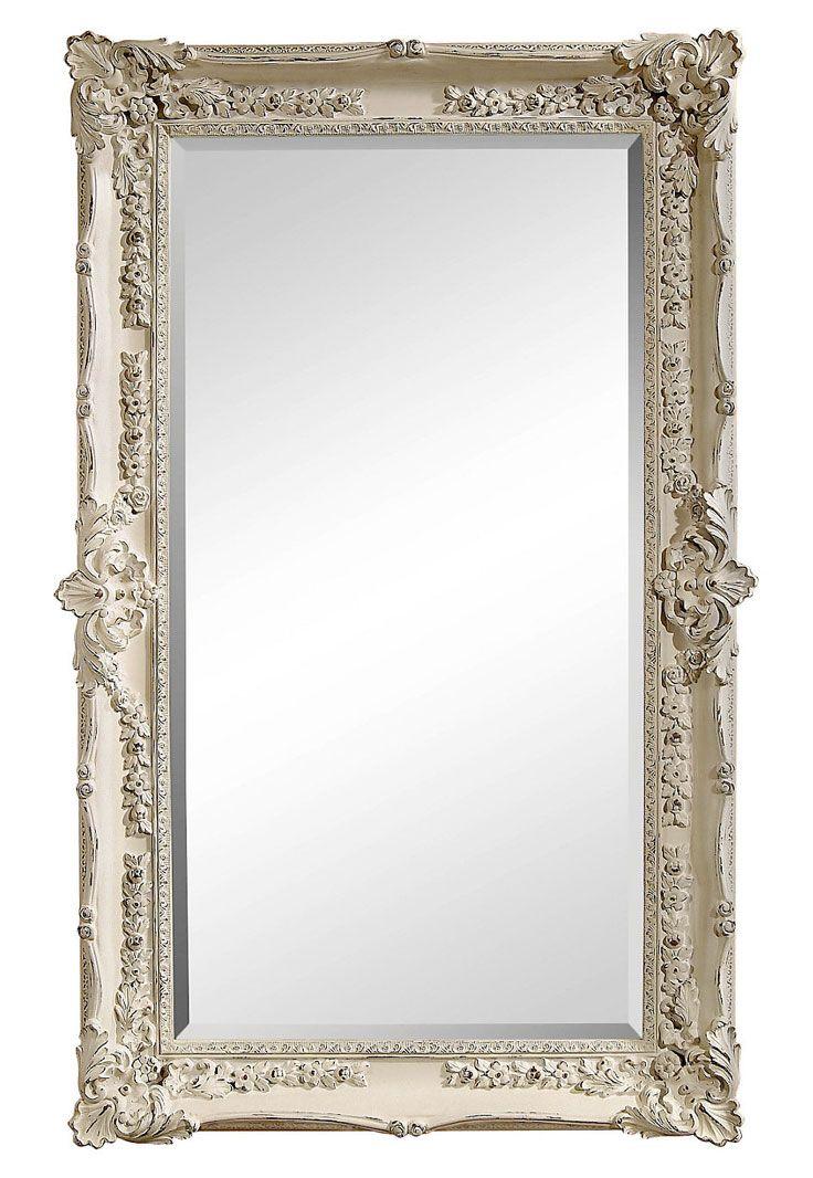 Genoa floor mirror white for White mirror