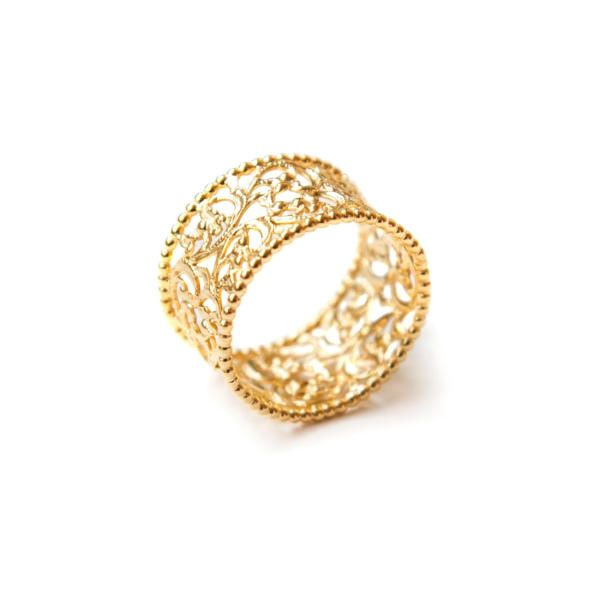 18ct Gold Plated Cherish Ring by Mustard & Peaches