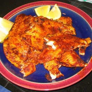 Spicy Blackened Flounder   recipes to try   Pinterest