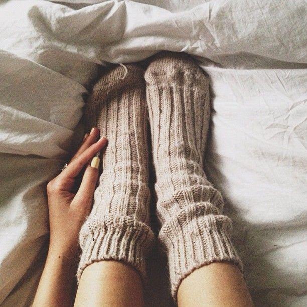 warm socks on a cold night