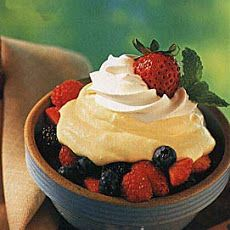 Lemon Mousse with Fresh Berries   I cannot live without icecream   Pi ...