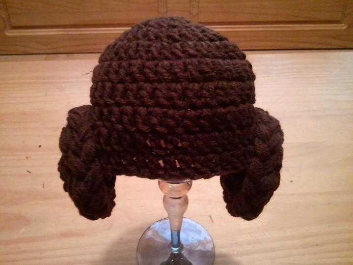 Crochet Pattern Princess Leia Hat : Star Wars Inspired Princess Leia Hat - Crochet Newborn Boy ...