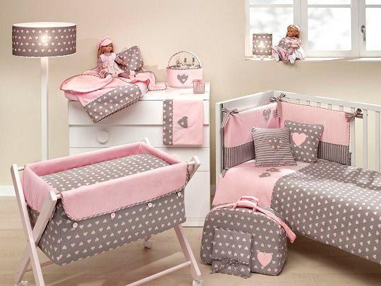 Habitacion bebe beige y rosa