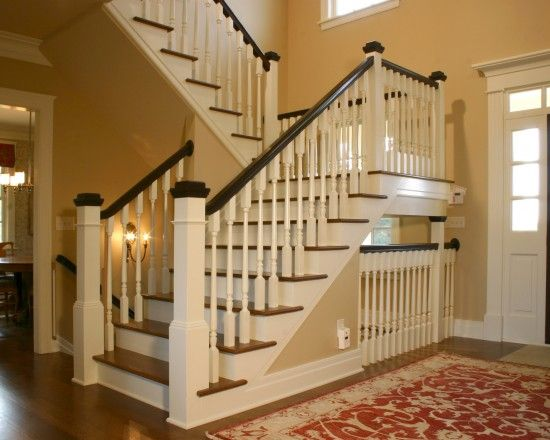 staircase with stairs open to basement family room