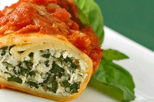 Spinach and Cheese Stuffed Manicotti | Thanksgiving - thankfully del ...