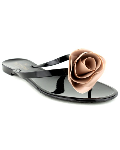 valentino rosette flip flops shoes pinterest. Black Bedroom Furniture Sets. Home Design Ideas