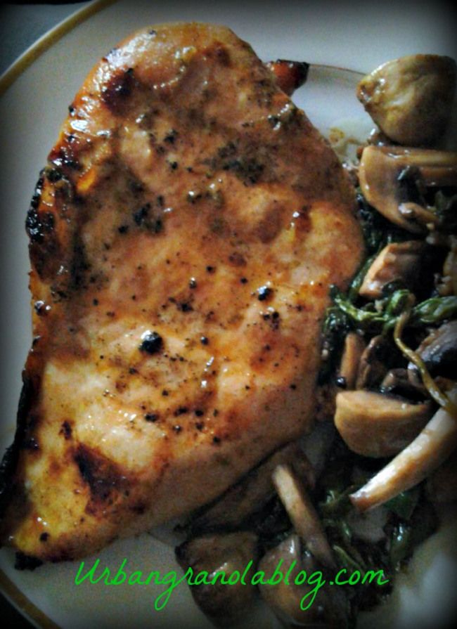 Grilled honey lime chicken - great simple marinade! I cut breasts in ...