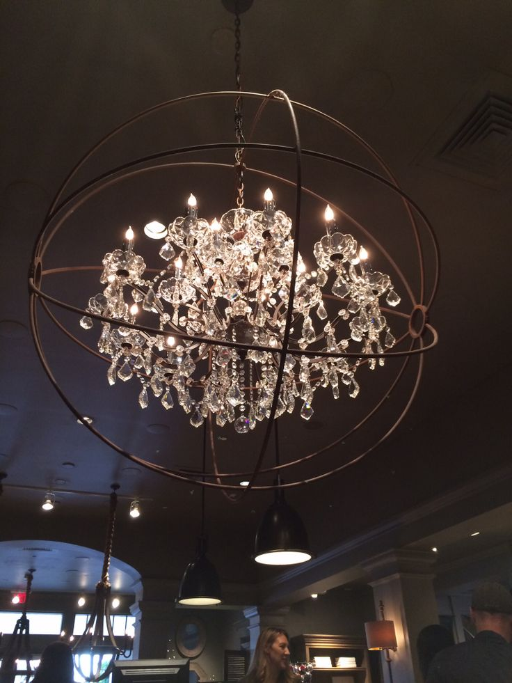 foucault orb chandelier decor pinterest
