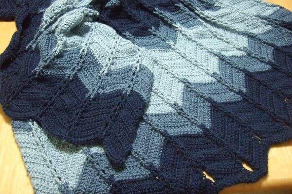 Jacob?s Ladder Ripple Afghan crochet Pinterest