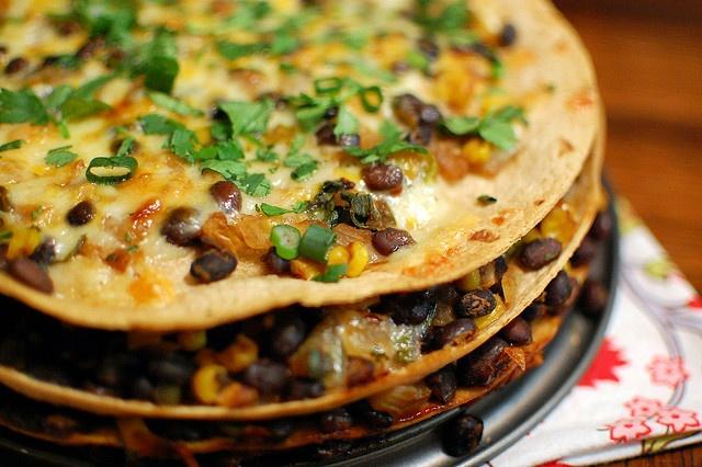tortilla and black bean pie | yummy food | Pinterest