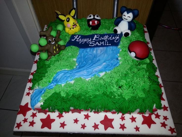 Cake Images With Name Sahil : Sahil s Pokemon birthday cake Birthday cakes Pinterest