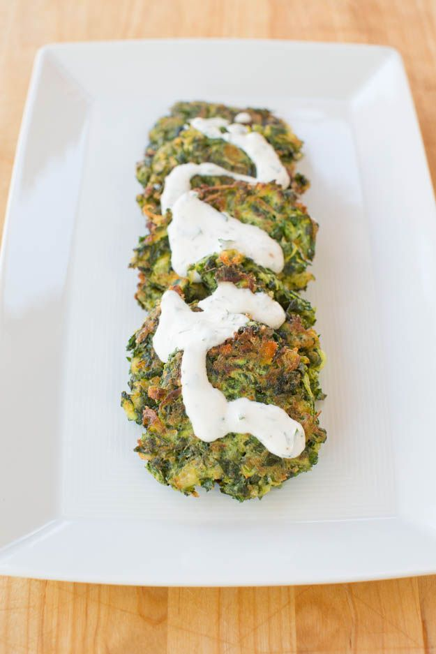 Zucchini and Feta Pancakes with Herbed Creme Fraiche | blog.sfcooking ...