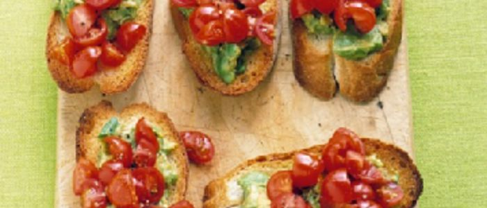 Tomato Avocado Toasts | Food | Pinterest