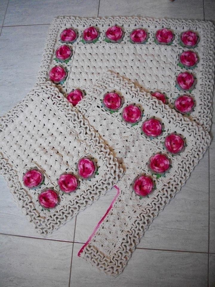 Juegos De Baño A Crochet:juego baño