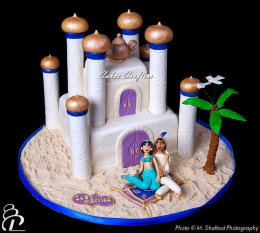 disney princess cake ideas | Princess Jasmine and Aladdin Disney Wedding Cake