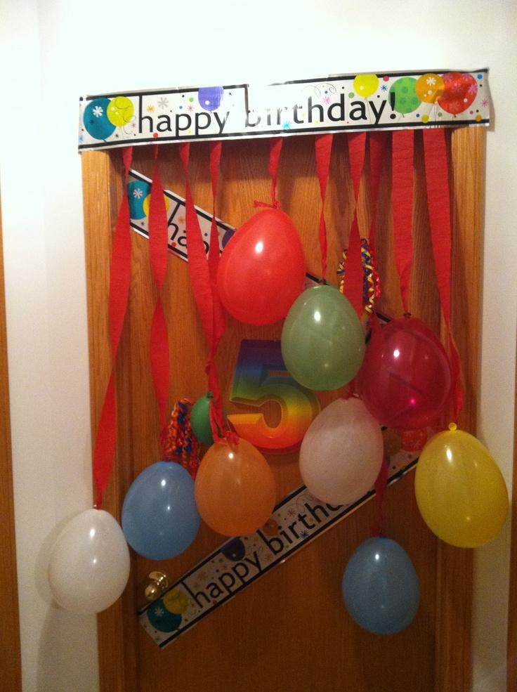 Birthday Bedroom Door surprise Birthday board. Pinterest
