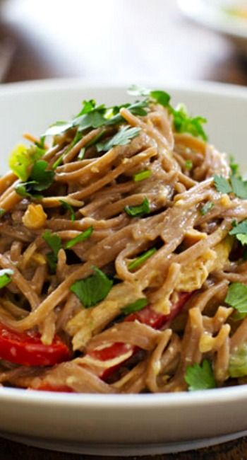 Spicy Peanut and Chicken Soba Noodle Salad