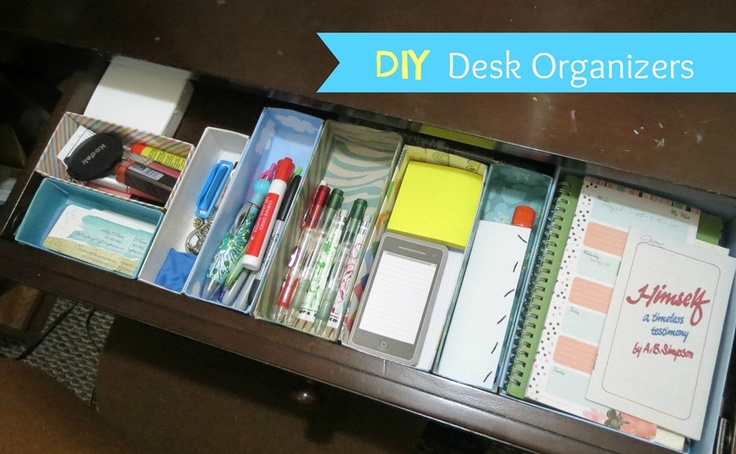 Diy desk organizers organization cleaning pinterest - Diy desk organizer ideas ...