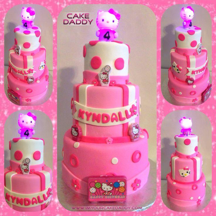 Hello Kitty 3 tiered birthday cake.  Cakes & cupcakes  Pinterest