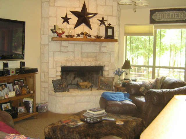 Pin by elyse kidd on dream home pinterest for Austin stone fireplace