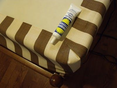 upholstered boxspring - great idea