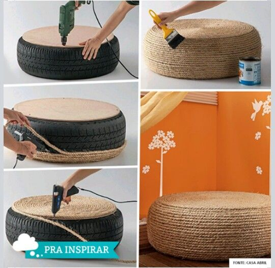 Tire seat backyard project ideas pinterest for Diy tire chair