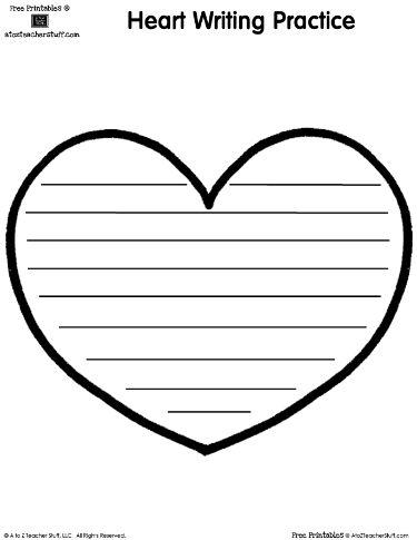Heart Writing Practice Paper | Writing | Pinterest