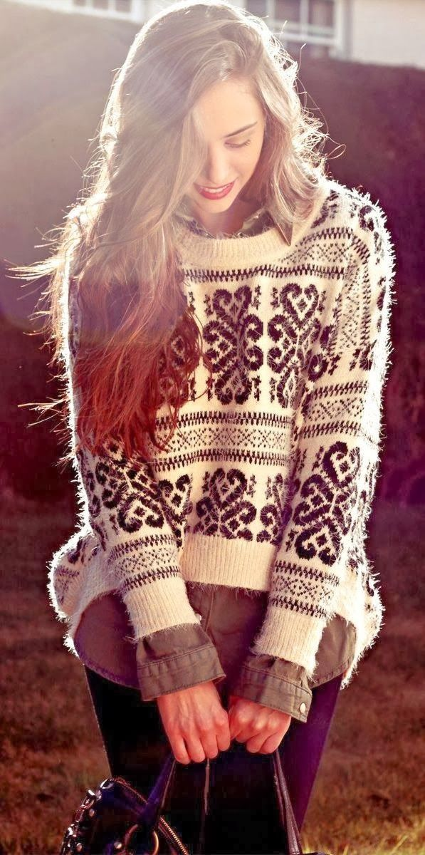 Cozy and Furry Round Neck Sweater