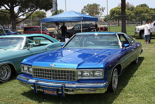 Blue lowrider quot glass houses quot 39 74 39 75 39 76 caprice classics pinterest chevy classic and