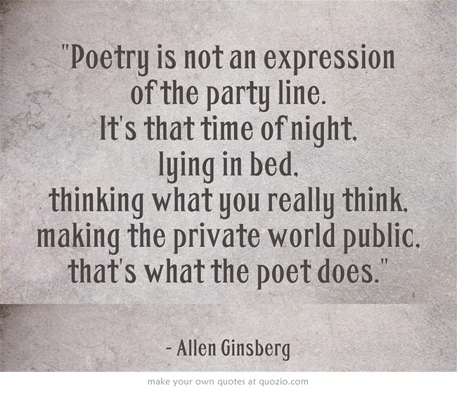 "life and poetry of allen ginsberg While in high school, ginsberg became interested in poetry when he read walt whitman, particularly ""song of myself"" (allen ginsberg biography) even with his love."