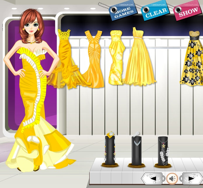 Yellow Princess Dress Up Fashion Games Fashion Games