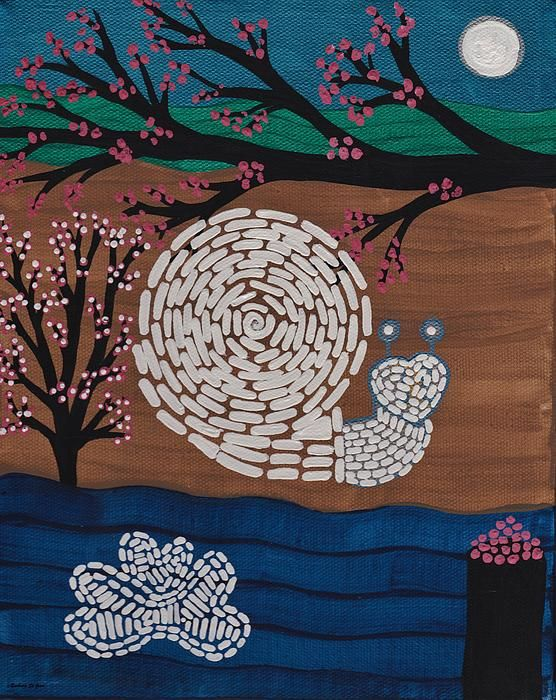 Moon Snail Bella Coola Print by Barbara St Jean