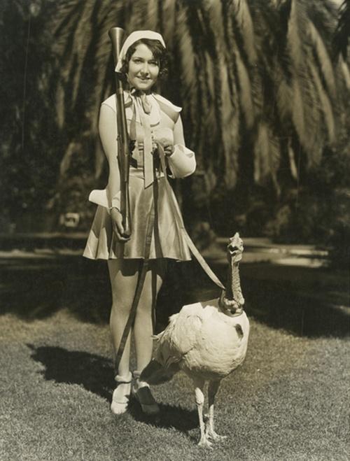 Dorothy Sebastian, turkey, and musket. S)