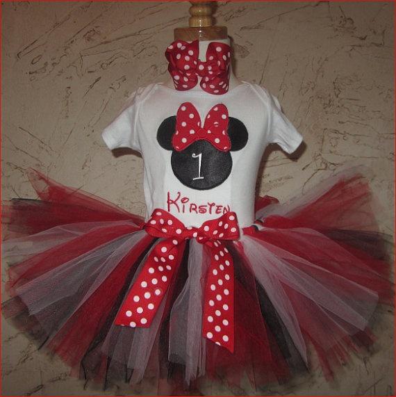 Custom Number Minnie Mouse Tutu Set by carouselofcreations, $46.99