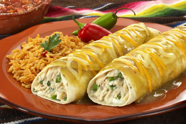 Tuna Green Chile Verde Enchiladas Recipe | Healthy Meal Ideas from ...