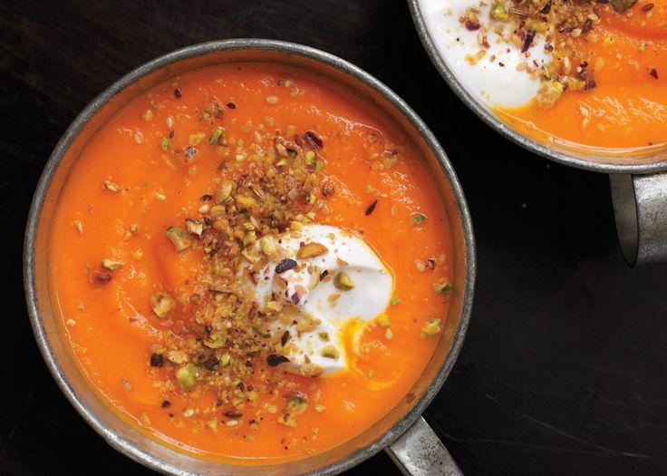 Roasted Carrot Soup with Dukkah Spice and Yogurt - Bon Appétit ...