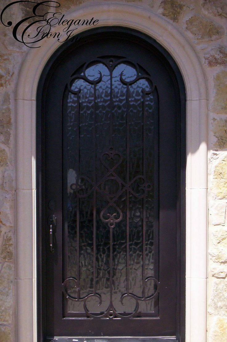Custom wrought iron front door for Wrought iron front doors