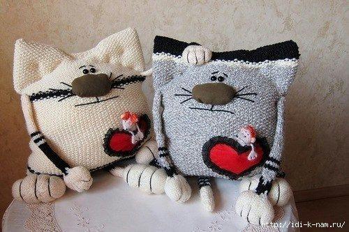 Подушка-игрушка своими руками связать