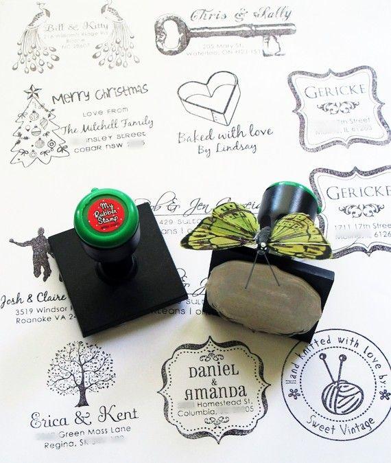 Custom Rubber Address Stamp (Simply Fabulous) Return Address Stamp ...