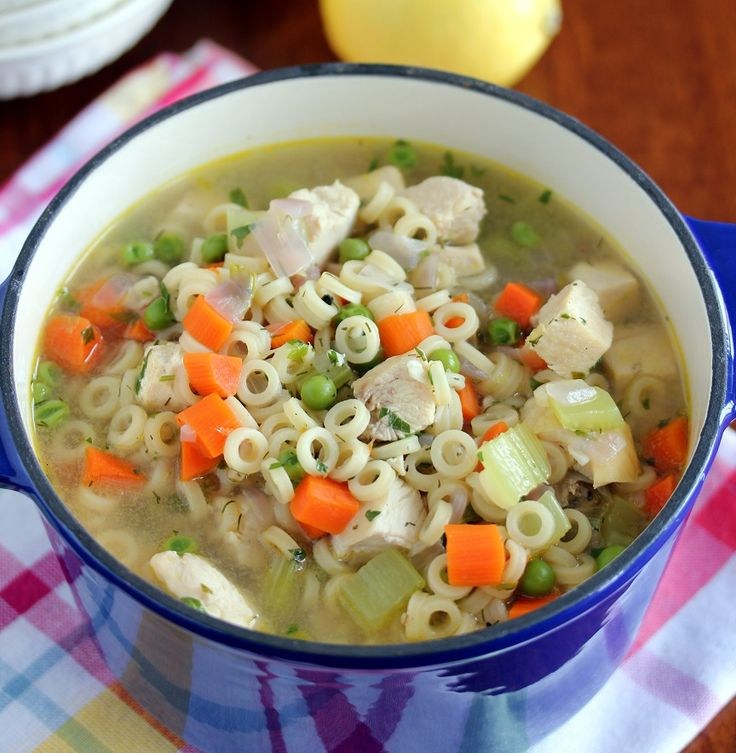 Lemon Dill Chicken Noodle Soup   Healthy Recipes/Food   Pinterest