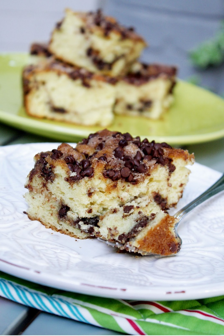 Chocolate Therapy: Chocolate Chip Sour Cream Coffee Cake