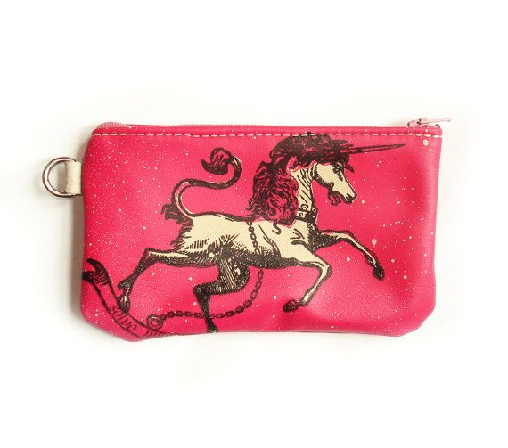 Unicorn Phone Case in Magenta Leather by bonspielcreation on Etsy, $29 ...