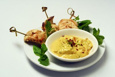 This spicy-sweet mango curry dipping sauce is sensational with grilled ...