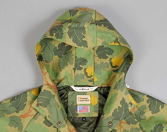 """The Hill-Side & Co. x Owner Operator Pack Anorak – """"Leaf Camo"""""""